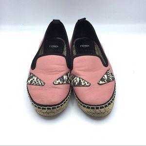 Fendi Shoes - Fendi   Pink Leather Espadrilles Size 35